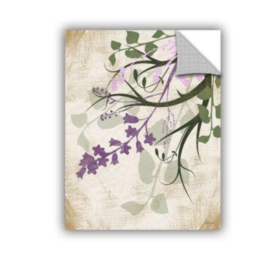 Brushstone Lavender And Sage Flourish II RemovableWall Decal