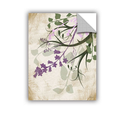 Brushstone Lavender And Sage Flourish II RemovableWall Decal