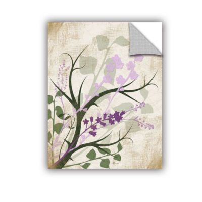 Brushstone Lavender And Sage Flourish Removable Wall Decal