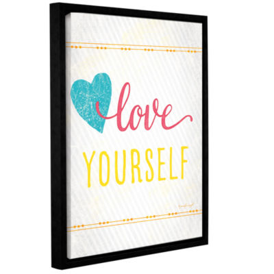 Brushstone Love Gallery Wrapped Floater-Framed Canvas Wall Art