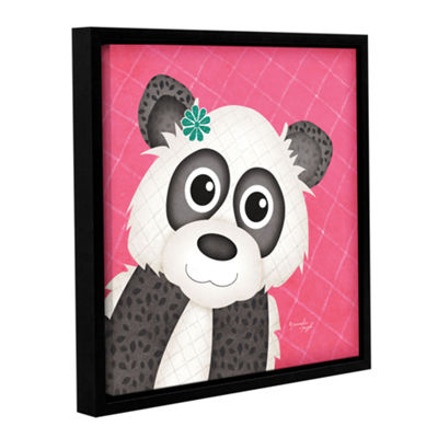Brushstone Panda Gallery Wrapped Floater-Framed Canvas Wall Art