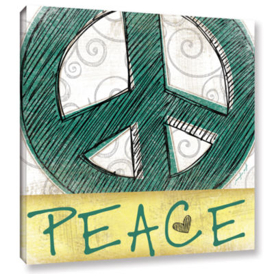Brushstone Peace & Love Set I Gallery Wrapped Canvas Wall Art