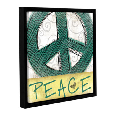 Brushstone Peace & Love Set I Gallery Wrapped Floater-Framed Canvas Wall Art