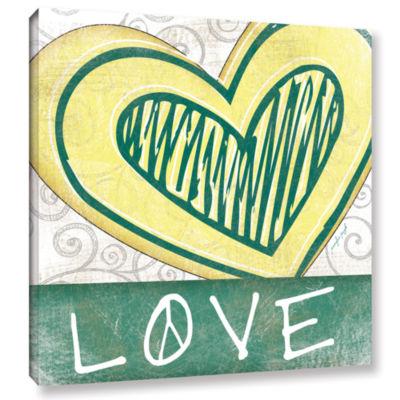 Brushstone Peace & Love Set II Gallery Wrapped Canvas Wall Art