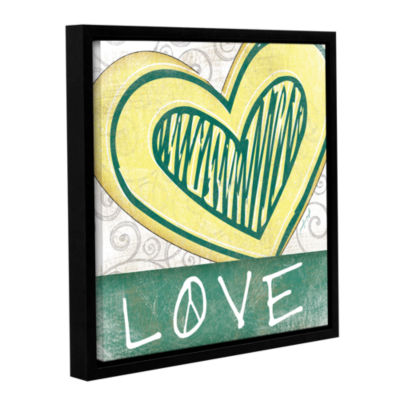 Brushstone Peace & Love Set II Gallery Wrapped Floater-Framed Canvas Wall Art