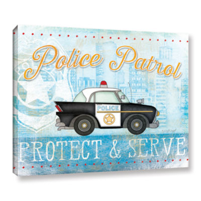 Brushstone Police Gallery Wrapped Canvas Wall Art