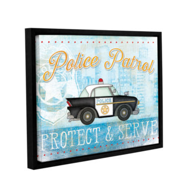 Brushstone Police Gallery Wrapped Floater-Framed Canvas Wall Art