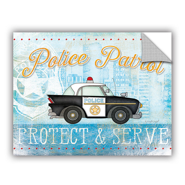 Brushstone Police Removable Wall Decal
