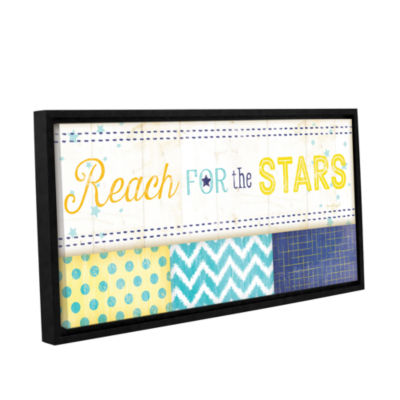 Brushstone Reach For The Stars Gallery Wrapped Floater-Framed Canvas Wall Art