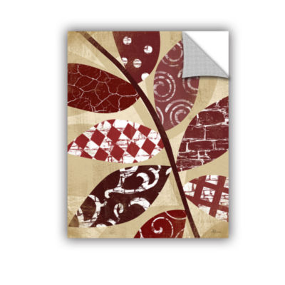 Brushstone Red Leaves II Removable Wall Decal