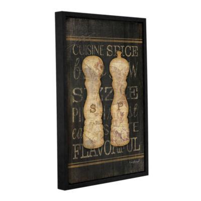 Brushstone Salt & Pepper Gallery Wrapped Floater-Framed Canvas Wall Art