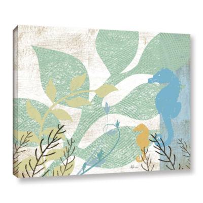 Brushstone Sea Life I Gallery Wrapped Canvas WallArt