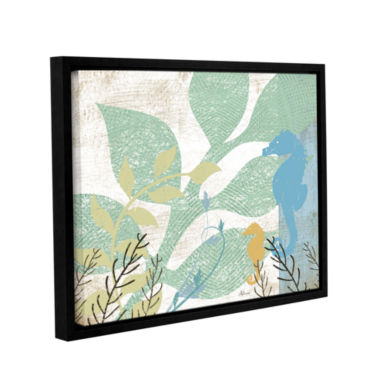 Brushstone Sea Life I Gallery Wrapped Floater-Framed Canvas Wall Art