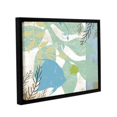 Brushstone Sea Life II Gallery Wrapped Floater-Framed Canvas Wall Art