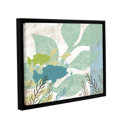 Brushstone Sealife Collection II Gallery Wrapped Floater-Framed Canvas Wall Art