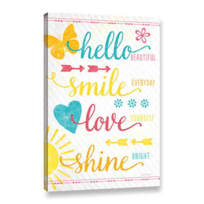 Brushstone Shine Bright Gallery Wrapped Canvas Wall Art