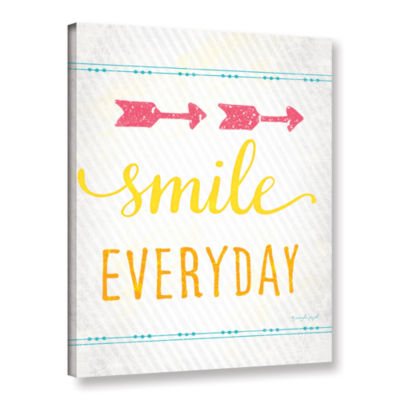 Brushstone Smile Gallery Wrapped Canvas Wall Art