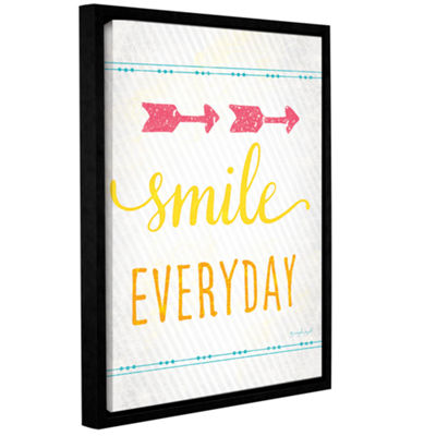 Brushstone Smile Gallery Wrapped Floater-Framed Canvas Wall Art