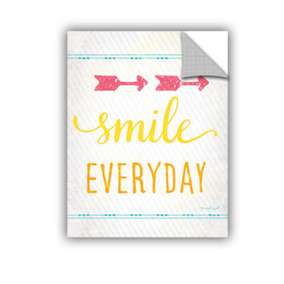 Brushstone Smile Removable Wall Decal