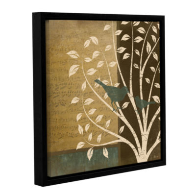 Brushstone Song Birds II Gallery Wrapped Floater-Framed Canvas Wall Art