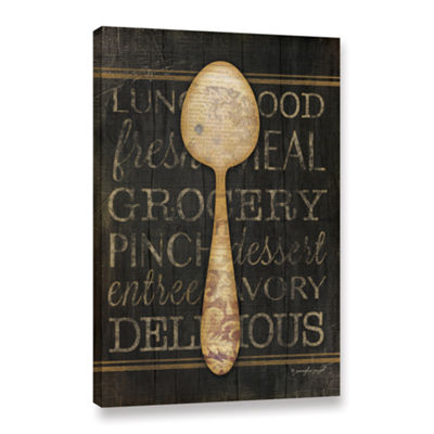 Brushstone Spoon Gallery Wrapped Canvas Wall Art