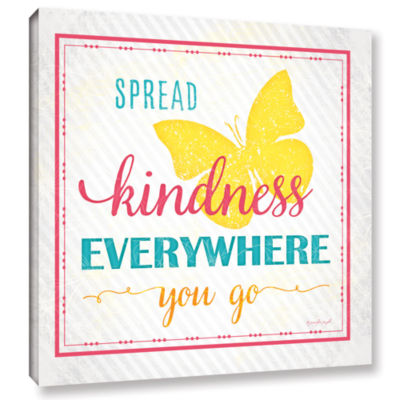 Brushstone Spread Kindness Gallery Wrapped CanvasWall Art