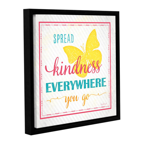 Brushstone Spread Kindness Gallery Wrapped Floater-Framed Canvas Wall Art