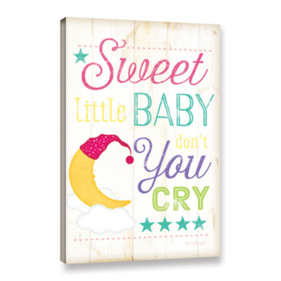 Brushstone Sweet Little Baby Don't You Cry GalleryWrapped Canvas Wall Art