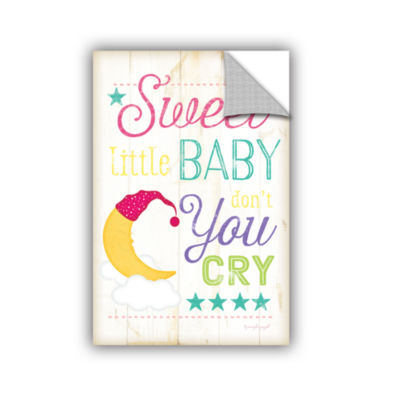 Brushstone Sweet Little Baby Don't You Cry Removable Wall Decal