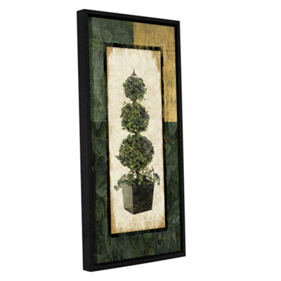 Brushstone Topiary I Gallery Wrapped Floater-Framed Canvas Wall Art