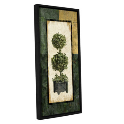 Brushstone Topiary II Gallery Wrapped Floater-Framed Canvas Wall Art