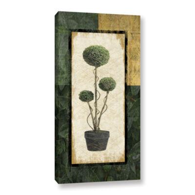 Brushstone Topiary III Gallery Wrapped Canvas WallArt