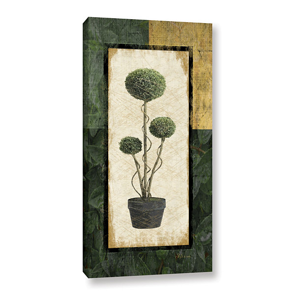 Brushstone Topiary III Gallery Wrapped Canvas WallArt
