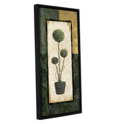 Brushstone Topiary III Gallery Wrapped Floater-Framed Canvas Wall Art