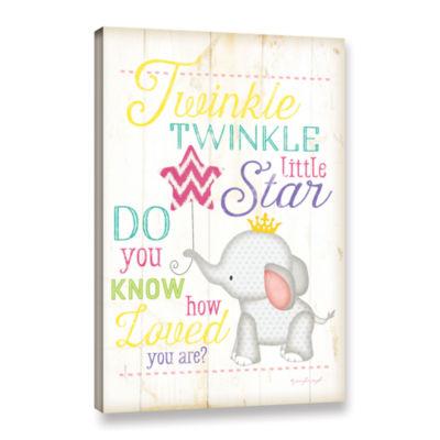 Brushstone Twinkle Twinkle Little Star 2 Gallery Wrapped Canvas Wall Art