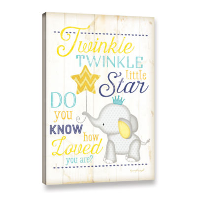 Brushstone Twinkle Twinkle Little Star Gallery Wrapped Canvas Wall Art