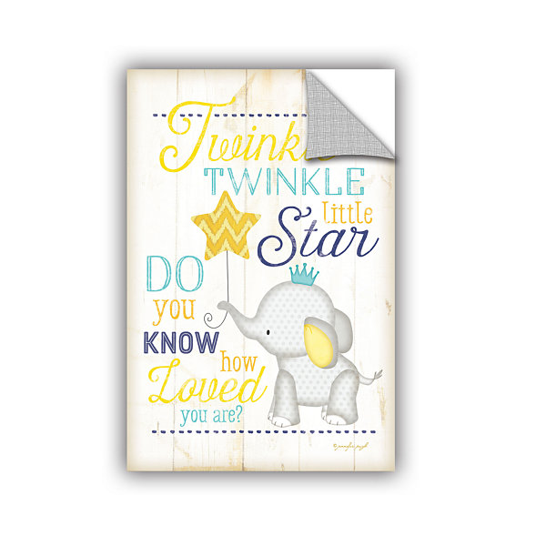 Brushstone Twinkle Twinkle Little Star Removable Wall Decal
