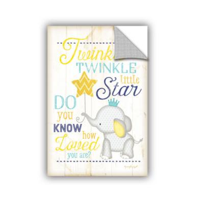Brushstone Twinkle Twinkle Little Star Removable Wall Decal