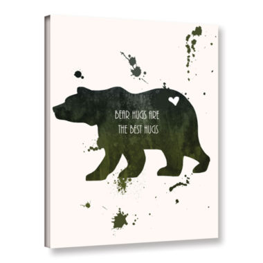 Brushstone Bear Gallery Wrapped Canvas Wall Art