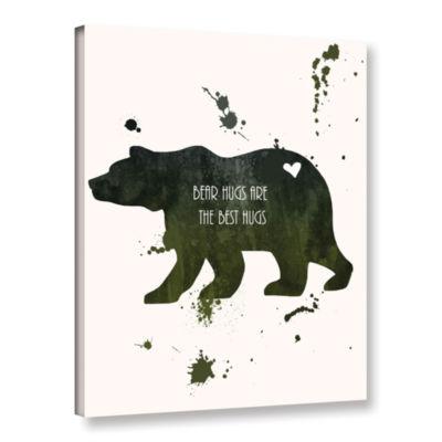 Brushstone Bear Gallery Wrapped Canvas Wall Art