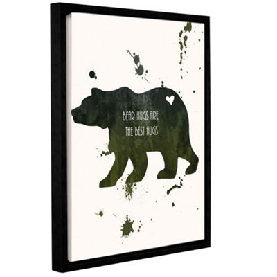 Brushstone Bear Gallery Wrapped Floater-Framed Canvas Wall Art