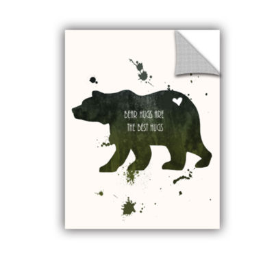 Brushstone Bear Removable Wall Decal