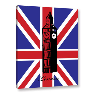 Brushstone Big Ben Flag Gallery Wrapped Canvas Wall Art