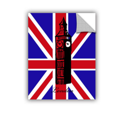 Brushstone Big Ben Flag Removable Wall Decal