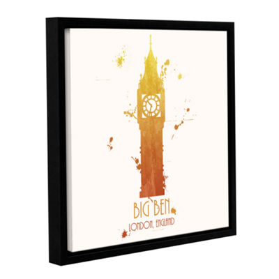 Brushstone Big Ben Gallery Wrapped Floater-FramedCanvas Wall Art