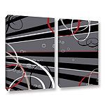 Brushstone Black Grey Memo Board 2-pc. Gallery Wrapped Canvas Wall Art