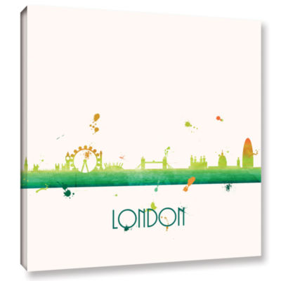 Brushstone Citrus London I Gallery Wrapped CanvasWall Art