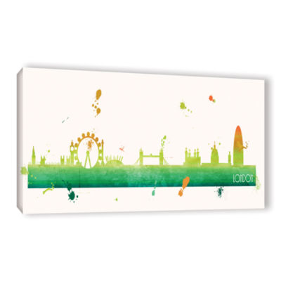 Brushstone Citrus London II Gallery Wrapped CanvasWall Art
