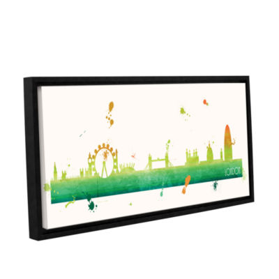 Brushstone Citrus London II Gallery Wrapped Floater-Framed Canvas Wall Art