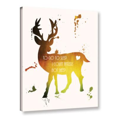 Brushstone Deer Gallery Wrapped Canvas Wall Art